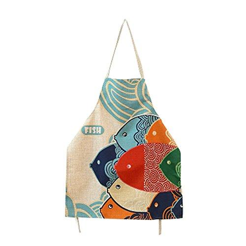 ative Frauen Köche Kochen Koch-Schürze mit bunten Fischen ()