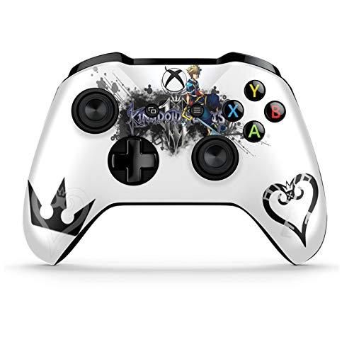 Xbox One S Wireless Controller Pro Konsole - Neueste Xbox Controller Bluetooth mit weichem Griff und exklusiver individueller Version Skin (Kingdom Hearts B&W 2)