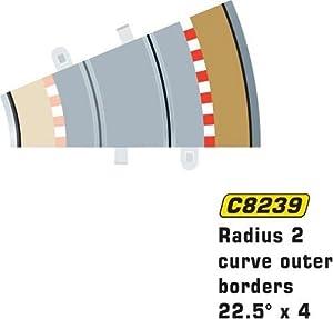 Super Slot 500008239 - Borde exterior R2 TIRA de 4 piezas, Rennbahnhzubehör Importado de Alemania