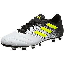 adidas Ace 74 FxG, Scarpe da Calcio Uomo, Giallo (Footwear White/Solar Yellow/Core Black), 41 1/3 EU