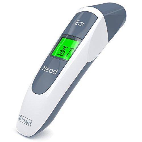 Termómetro Digital de Oído con Función para Frente – Algoritmo Mejorado para Mayor Precisión- Aprobado por CE y FDA – Nuevo Diseño iProven DMT-316 – Conveniente para Todas las Edades