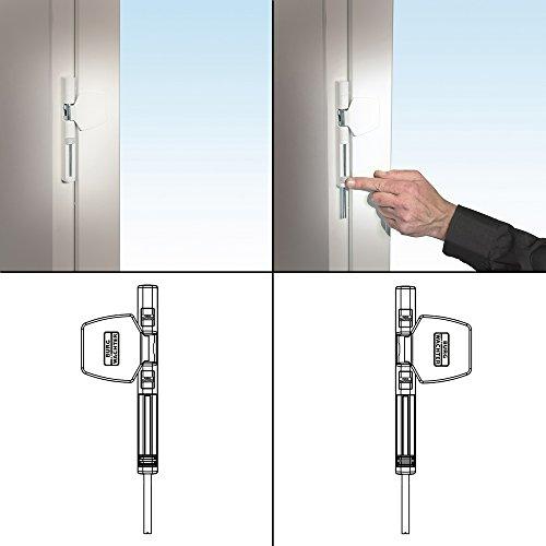 BURG-WÄCHTER Fenstersicherung für die Scharnierseite, Für Fenster aus Kunststoff, Holz oder Aluminium, WinSafe WS 44 W SB - 4