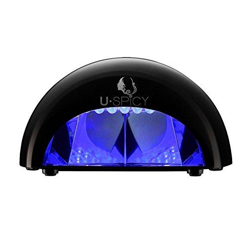 Lampada LED Unghie USpicy Fornetto Led 12W Nail Dryer Professionale per Manicure Shellac e con Smalto Gel, Timer da 30s, 60s, 90s, Nero