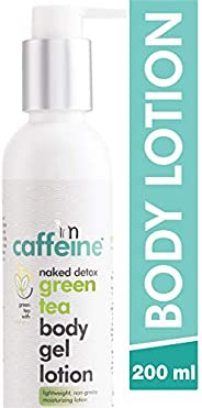 mCaffeine Naked Detox Green Tea Body Gel Lotion | Hydration | Vitamin C, Shea Butter | Oily Skin | Paraben &am