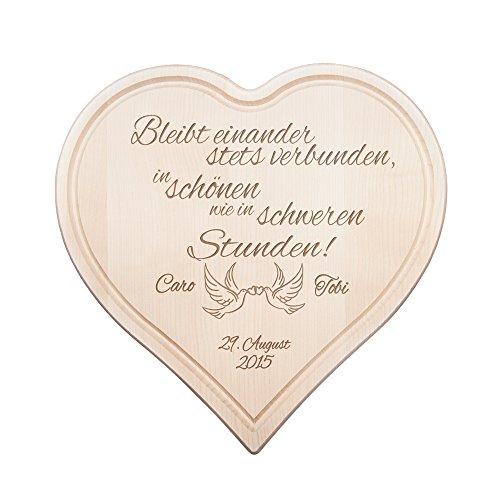 Wunderbar Crazy Kitchen Schneidebrett Herz   Holzbrett Mit Gravur Zur Hochzeit    Bleibt Einander Stets Verbund
