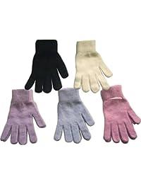 1 Paar Handschuhe mit flauschiger Angorawolle