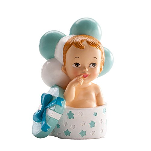 Dekora Figure Baptism BABY Gift And Balloons Blue