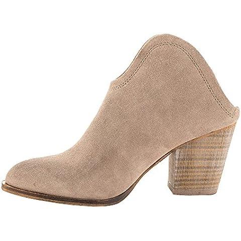 EKS Damen Chunky Middle Heel Kleid-Usual Kurz Stiefel