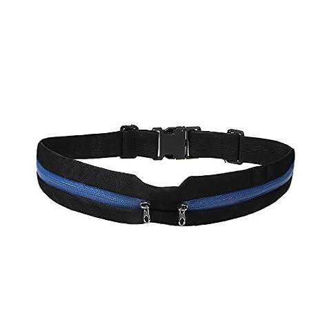 xhorizon® KL imperméable anti -sueur sac pochette à la ceinture réglable cinétique pour la plupart des smartphones avec deux poches extensibles du rangement pour le camping en plein air / sports de plein air / sports en salle