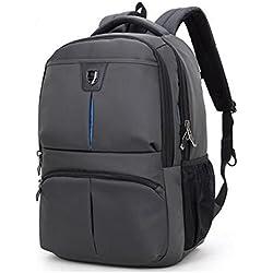Arctic Hunter wasserdicht Männer Rucksack für Laptop bis zu 15,6 Zoll, Computer Notebook Tasche Business School Reise Rucksack Grau 176