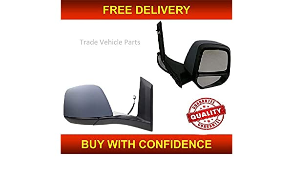 Ford Transit Connect Door Wing Mirror Electric Heated Left N//S Primed 2014 On