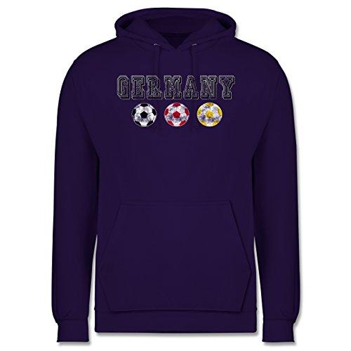EM 2016 - Frankreich - Germany mit Fußbälle Vintage - Männer Premium Kapuzenpullover / Hoodie Lila