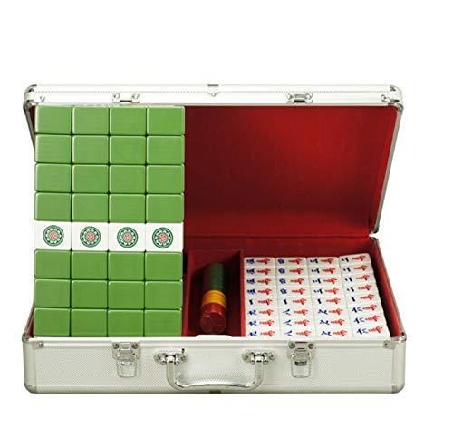 Xiao Hochwertiges Melaminharz Mahjong Home Travel Tragbare Pferdemarke Personalisierte Geschenk Unterhaltungsspielzeug 3,2 × 2,5 × 4,1 cm (Color : Green) -