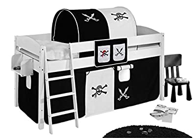 Pockets pirate black white - for High sleeper, Mid sleeper and bunk bed produced by Idenses GmbH - quick delivery from UK.