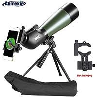 Aomekie Longue-Vue Telescope Monoculaire 20-20x80 Prisme FMC Revêtement Imperméable avec Trépied pour des Exercices de Tir en Extérieur