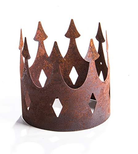 ecosoul Gartendeko Krone groß offen Metall Rost Deko