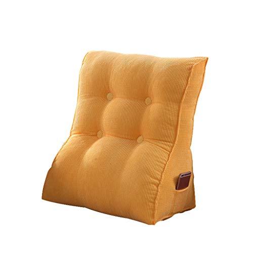 ZXPjjzs Dreieckskissen Sofa Kissen Back Office Taille Kissen Bett Große Kissen Bett Nackenkissen Waschbar (mehrere Farben, Zwei Größen verfügbar) -Bester Freund (Farbe : Gelb, größe : 45X50X30)