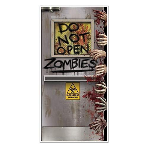 Arteki Halloween Zombies Lab Door Cover 30in. X 5ft. Party Accessory Pkg/6 Accessory (Pkgof6) Zombie Lab