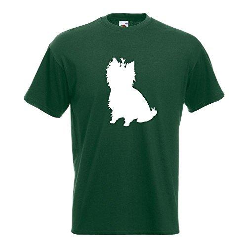 KIWISTAR - Yorkshire Terrier Hunderasse T-Shirt in 15 verschiedenen Farben - Herren Funshirt bedruckt Design Sprüche Spruch Motive Oberteil Baumwolle Print Größe S M L XL XXL Flaschengruen
