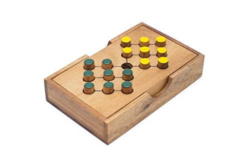 Preisvergleich Produktbild SiamMandalay®: Battlefield - A Traditional Game of Classic Solitaire Wooden Peg Game