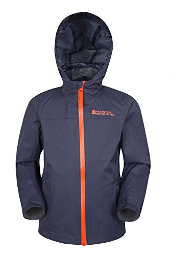 Mountain Warehouse Torrent Kids Waterproof Jacket Kids Childrens Boys Girls Rain Proof Coat Navy 13 years