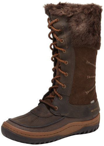 Merrell Decora Prelude Wtpf Women Long Shaft Pull On Boots Brown Size:...