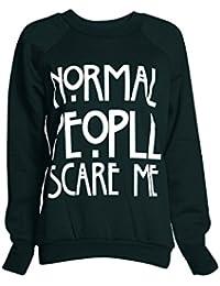 Fast Fashion Damen Sweatshirt Oben Dotieren Geek Kokain Brooklyn Drucken Fleece
