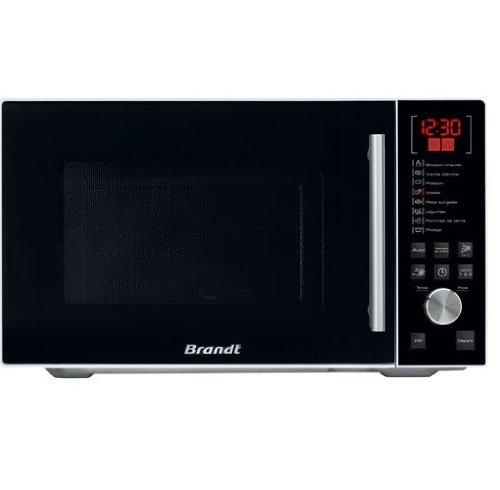BRANDT - Micro-ondes en pose libre avec autoprogramme pour calcul automatique de la durée de cuisson - Cavité en Inox 26 L - Puissance 900 W - Blanc