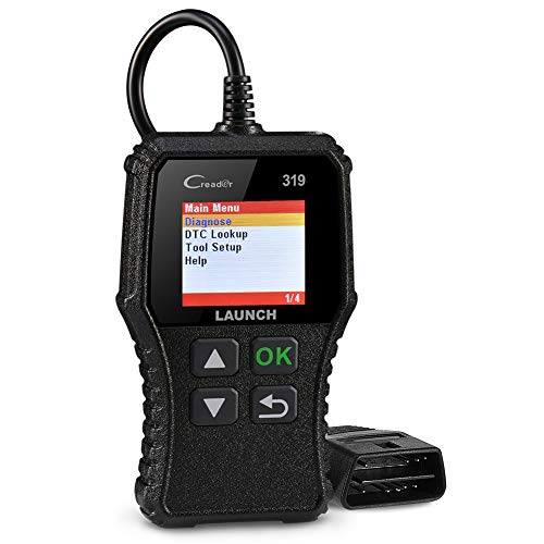 LAUNCH CR319 OBD2 Strumenti Diagnostici per Motore OBD-II Scanner Lettore Codice Errore Supporta Tutte Le Auto con OBDII EOBD Can e Connettore DLC 16-Pin per Emissioni e Manutenzione del Motore