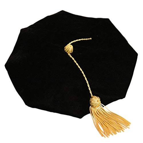 Yestter Birrete Graduacion Estudiantes Ajustables Borla Gorra Doctoral para Graduation Party Adultos Niños