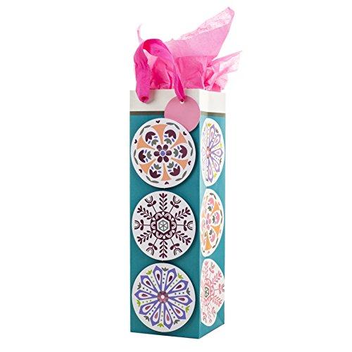Hallmark Geschenktüten für Flaschen, Cheers und geometrisch, 2 Stück Medaillons Medallion -