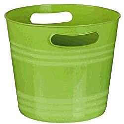 Party Perfect Ice Bucket Serve Ware, Kiwi Green, Plastic , 8 x 9