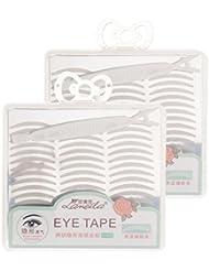 Fenteer Wonderstripes Augenlid Aufkleber mit Gabel, 480 Paar