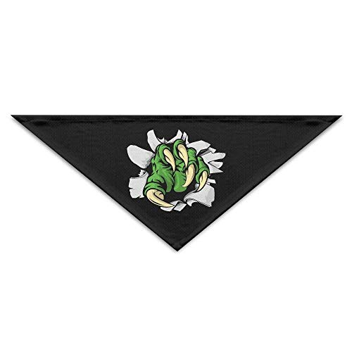 Sdltkhy Green Claw Seal Triangle Pet Scarf Dog Bandana Pet Collars Dog Cat - Birthday
