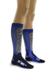 X - Socks - Calcetines de esquí infantil, tamaño 1 = 24 - 26, color cobalt / marino