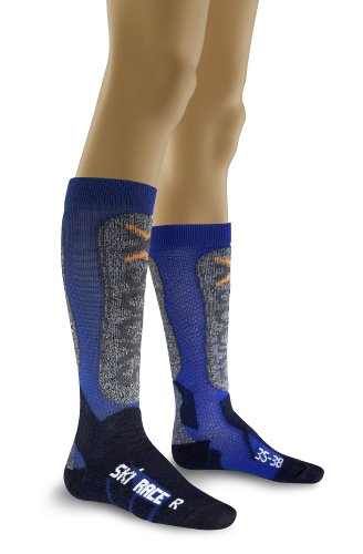 X-Socks Funktionssocken Ski Race Junior, Hyacinth/Blue, 27/30, X020237 (Ski Race Socke)