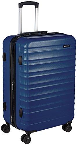 AmazonBasics Valise rigide à roulettes pivotantes, 68 cm, Bleu marine