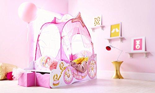 Kleinkinderbett für Mädchen im Kutschendesign von Disney Prinzessin, mit Baldachin - 6