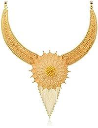 Senco Gold 22k Yellow Gold Multi-Strand Necklace for Women