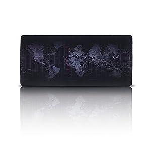 Alfombrilla de Ratón para Gaming , EETCK Mousepad Mapa del Mundo Tamaño Grande XXL 35.43×15.74 Inch para el Ratón y Teclado