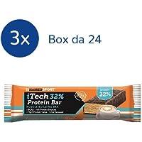 NAMEDSPORT 3x iTECH 32 % Protein Bar box da 24 barrette da 60 g (GUSTO: Creamy Cappuccino)