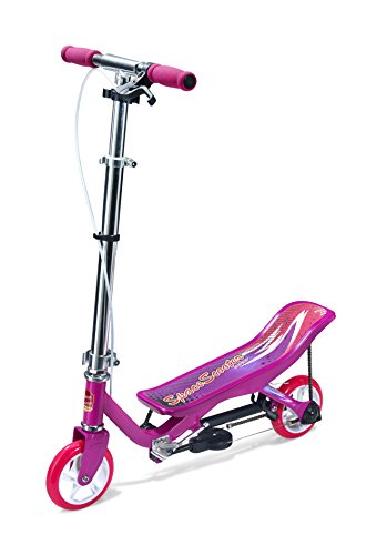 Preisvergleich Produktbild Space Scooter X360 Rosa Junior Push Board Pump Action Kinderroller mit Handbremse & Compact Faltbar.