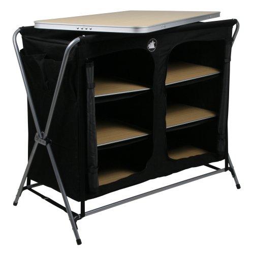 41aqBXvu57L. SS500  - 10T Flapbox - Camping cupboard, 6 draws + top storage box, foldable steel frame, 53x110x90 cm