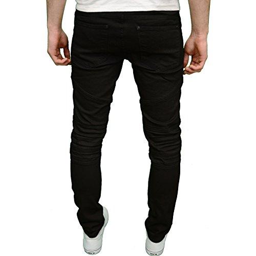 Crosshatch Herren Jeanshose schwarz schwarz Schwarz