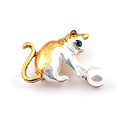 Ogquaton Nachahmung Perle Katze Legierung Brosche Geschenk Schmuck Anhänger Abzeichen oder Boutonniere 1 STÜCKE Langlebig und Nützlich (Anhänger-konverter-kit)