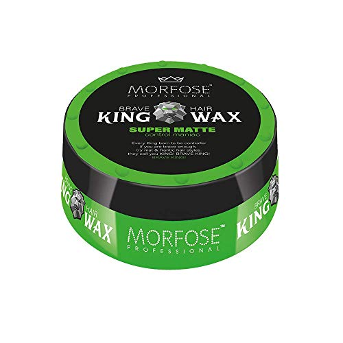 Morfose King Hair Wax 175ml Haarwachs Mad,Lion,Wise,Dark,Brave Haargel Matt Gel-Wax Haar Styling (1x Super Matte ()