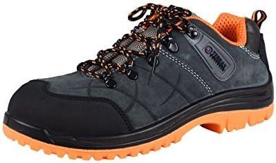 Terrax Workwear Calzado de Seguridad S1P, Gris/Naranja
