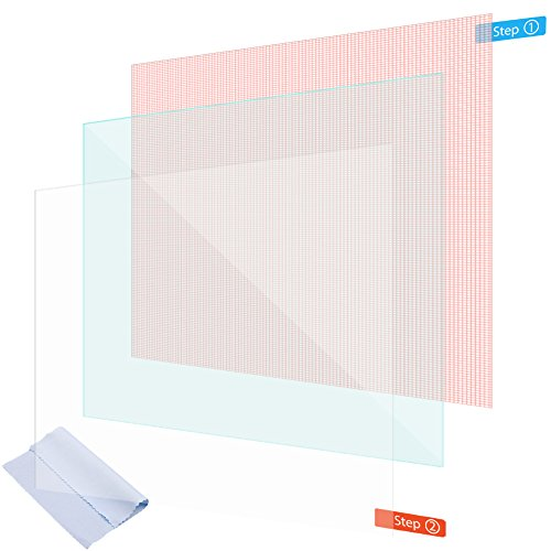NAUC Displayschutzfolie für Handy 4 5 6 Zoll Schutzfolie 2x Display Schutz Universal