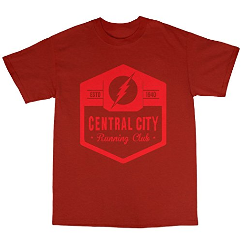 Central City Running Club T-Shirt 100% Baumwolle Rot