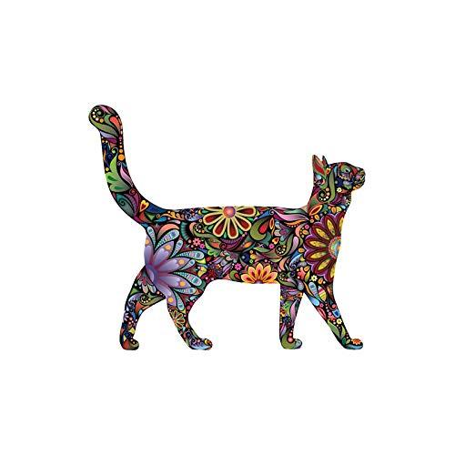 Wandaufkleber Farbmuster Katze Mandala Cartoon Wandaufkleber Kinderzimmer Dekoration Doodle Aufkleber